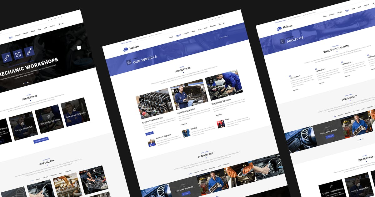 Download Mechanic PSD Template by 7oroof