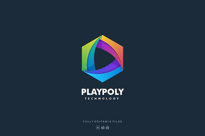 Thumbnail for Abstract Hexagon Gradient Colorful Logo
