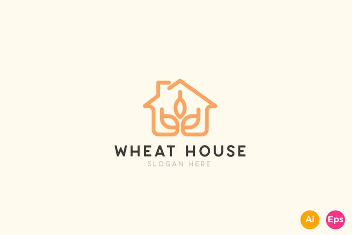Thumbnail for Wheat House Farming Logo Template