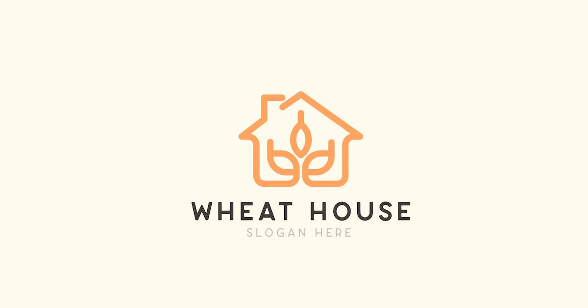 Download Wheat House Farming Logo Template by NEWFLIX