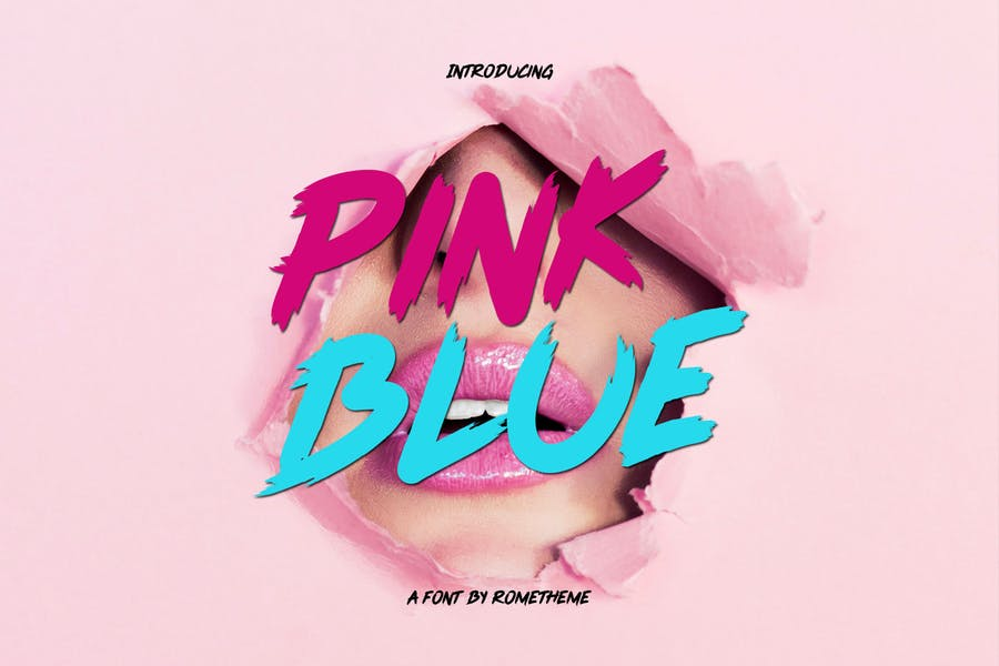 Pink Blue Font YR