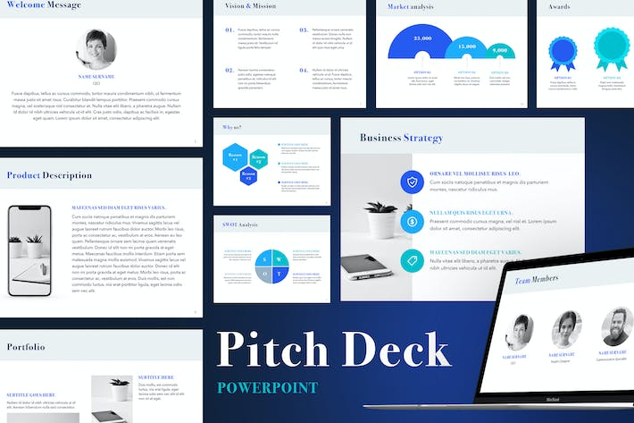 Download 520 Powerpoint Pitch Deck Presentation Templates