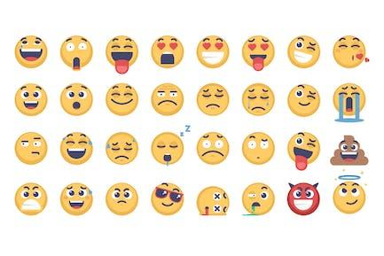 32 Emoji and Emoticons Pack