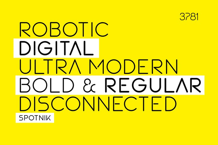 Thumbnail for SPOTNIK - Ultra Modern Space Font