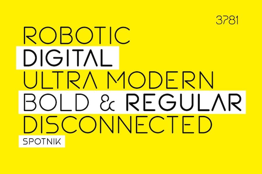 SPOTNIK - Ultra Modern Space Font