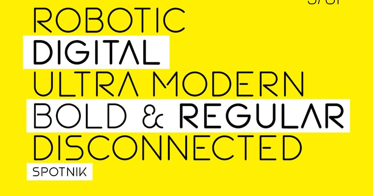 Download SPOTNIK - Ultra Modern Space Font by alexacrib