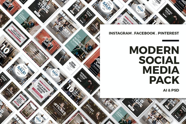 Thumbnail for Modern Social Media Post Bundle