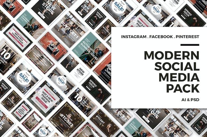 Thumbnail for Modern Social Media Post Bundle