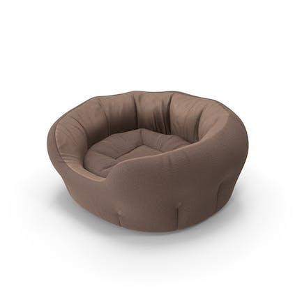 Cama para mascotas, color marrón