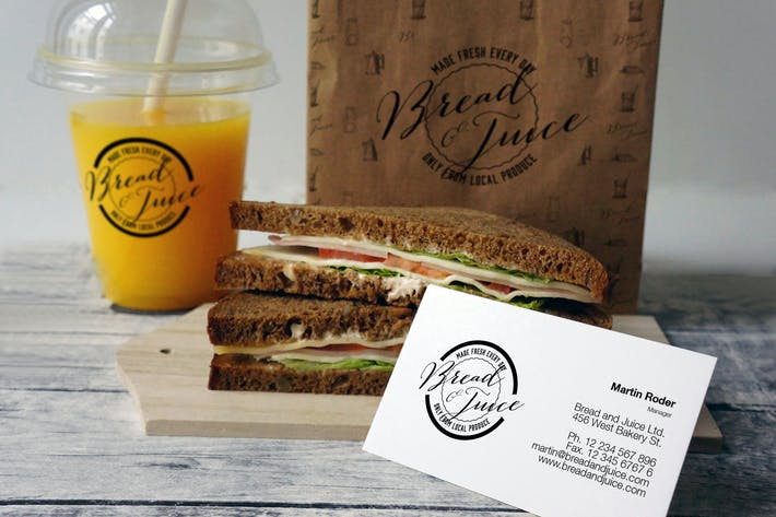 Thumbnail for Sandwich Cafe Mockup