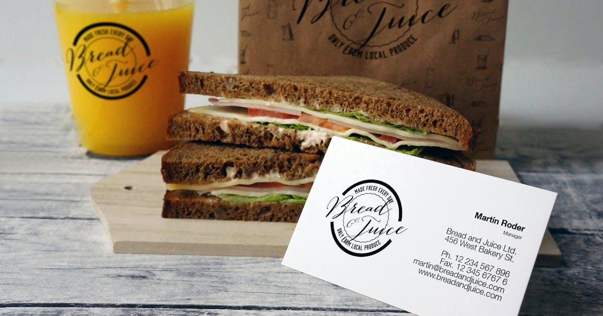 Sandwich Cafe Mockup by amris