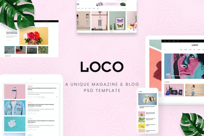 Thumbnail for Loco - Fashion Magazine & Shop PSD Template