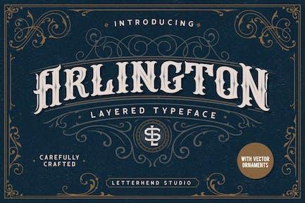 Arlington Layered Fonts & Ornaments