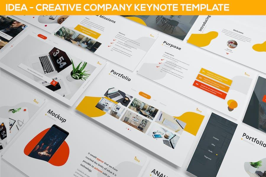 iDea - Creative Company Keynote Template