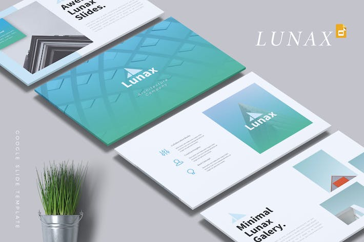Thumbnail for LUNAX - Architecture Google Slides Template