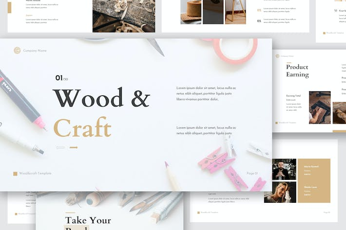 Thumbnail for Wood & Craft Google Slides Template