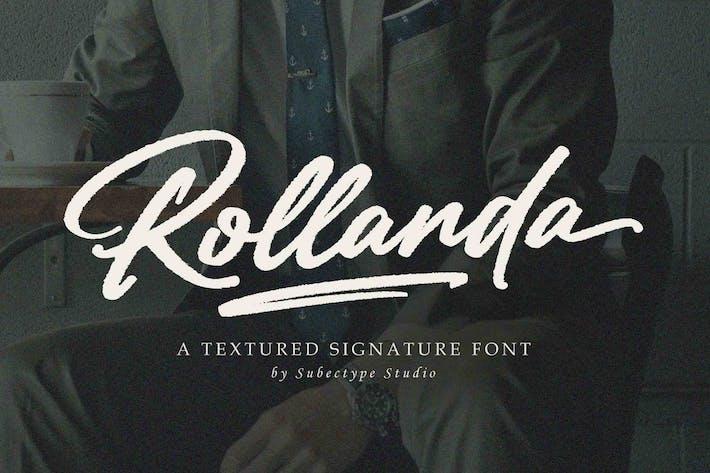 Rollanda - текстурированный шрифт подписи