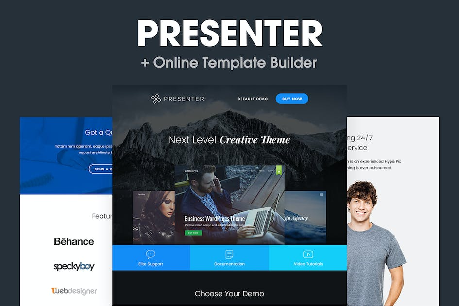 Download Presenter - Responsive Email Template by HyperPix