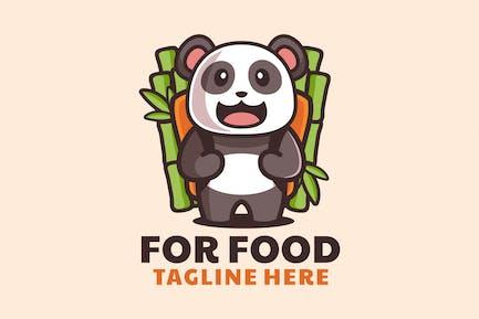 Cute Panda Bring Bamboo Backpack Cartoon Logo Desi