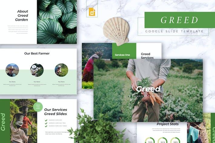 Thumbnail for GREED - Botanical Google Slides Template