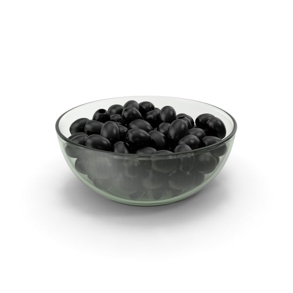 Black Olives Without Seeds In Bowl