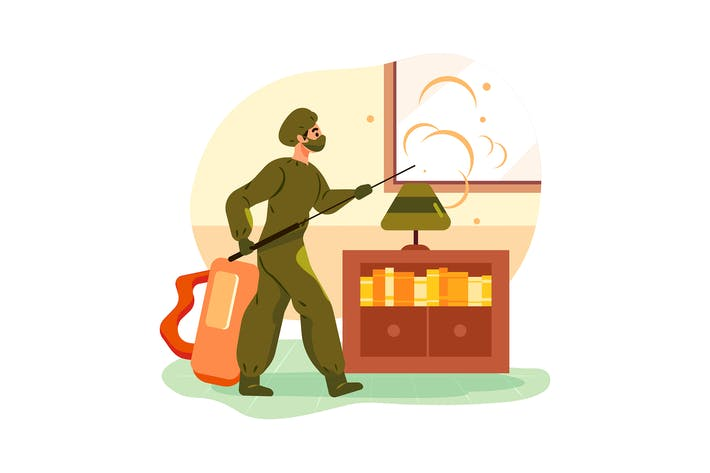House Cleaning Illustration Concept