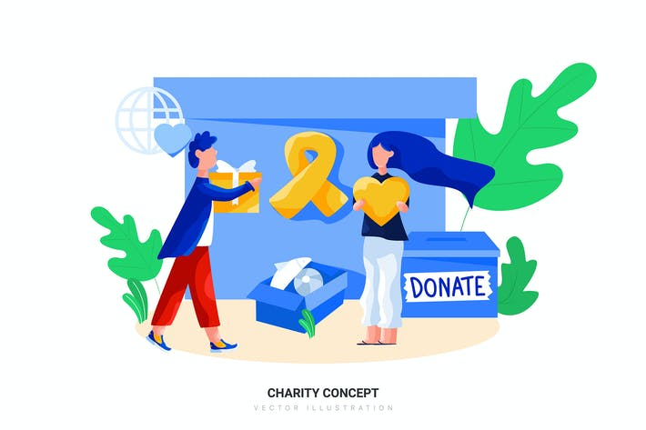 Thumbnail for Charity Concept Vector Illustration