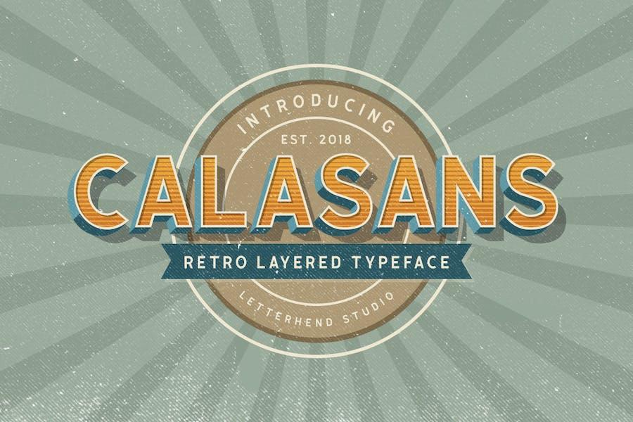 Calasans - 7 layered fonts