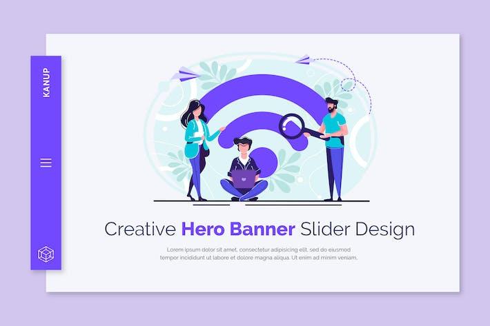 Thumbnail for Kanup - Hero Banner Template