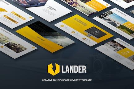 Lander - Plantilla de Keynote Creativo
