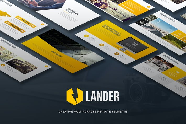 Thumbnail for Lander - Creative Keynote Template