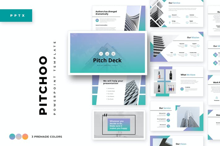 Thumbnail for Pitchoo Business Powerpoint Template