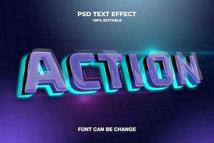action 3d text effect