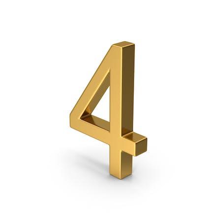 Number 4 Gold
