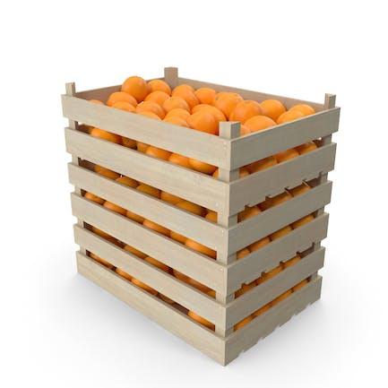 Hölzerne orangefarbene