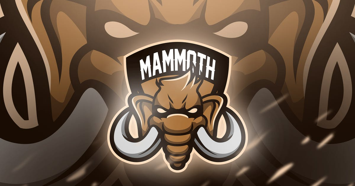 Download Mammoth - Mascot & Esport Logo by aqrstudio