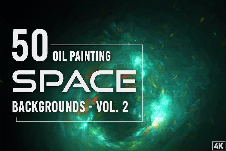 50 Ölgemälde-Weltraum-Hintergründe - Band 2