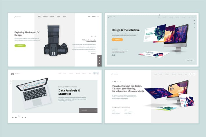 Thumbnail for Set of Website Template Designs