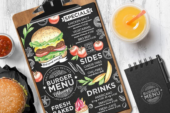 Cover Image For Burger Food Menu