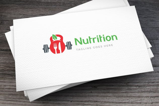 Fit Nutrition Logo Template
