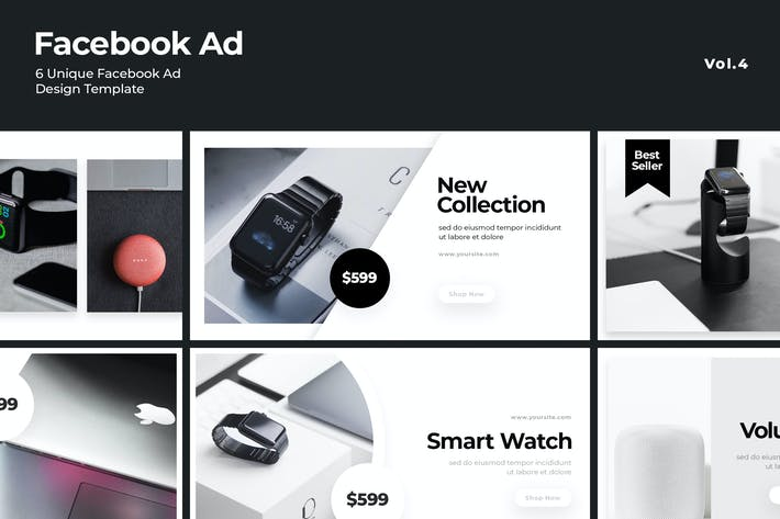 Cover Image For Facebook Ad Template Vol.4