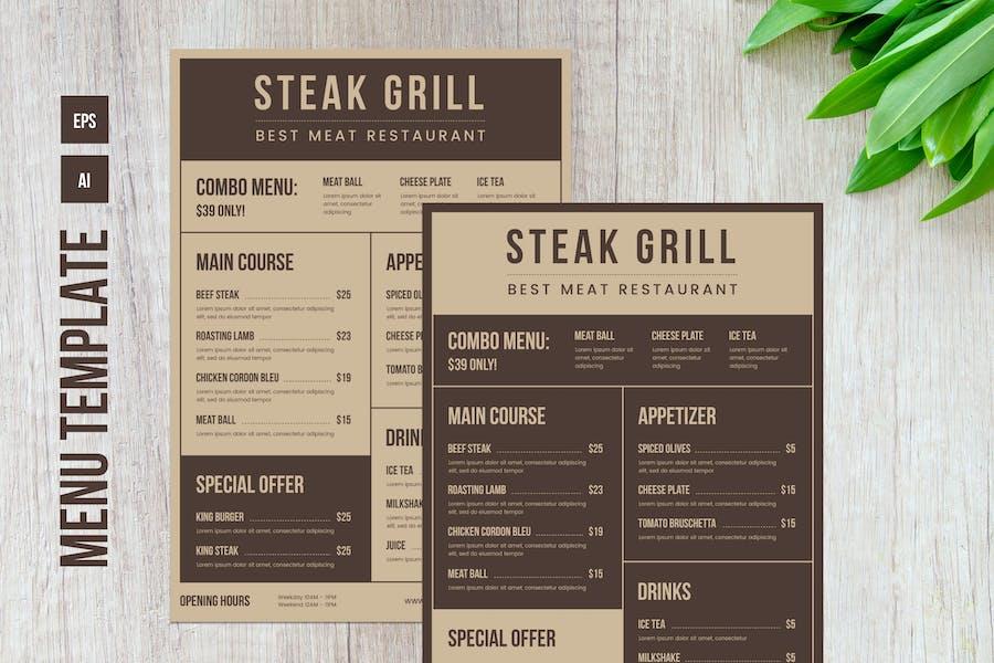 Restaurant Food Menu Template – 02