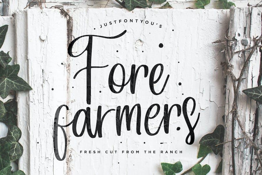 Forefarmers - Rustic Casual Vintage Font