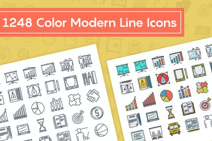Color Modern Line Icons