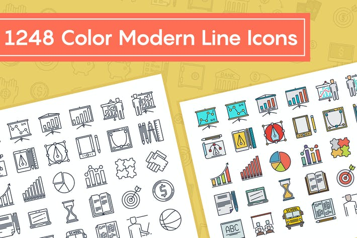Thumbnail for Color Modern Line Icons