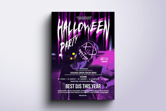 Thumbnail for Halloween Party Poster & Flyer v3