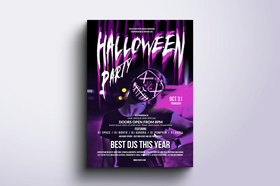 Halloween party poster & flyer template