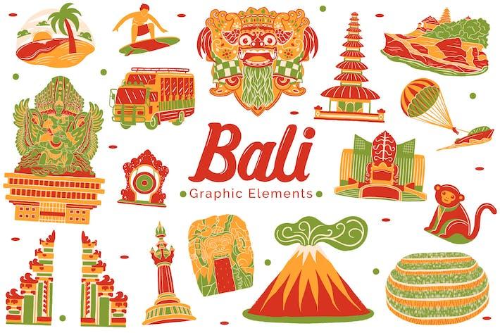Thumbnail for Bali-Wahrzeichen Grafikelemente
