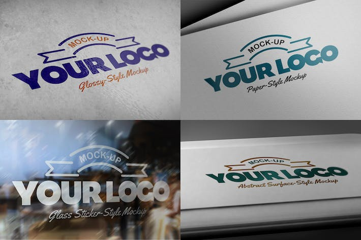 Thumbnail for 8 Photorealistic Logo Mockups