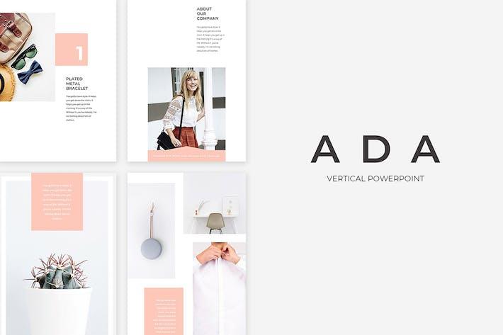 Thumbnail for Ada Vertical PowerPoint Presentation